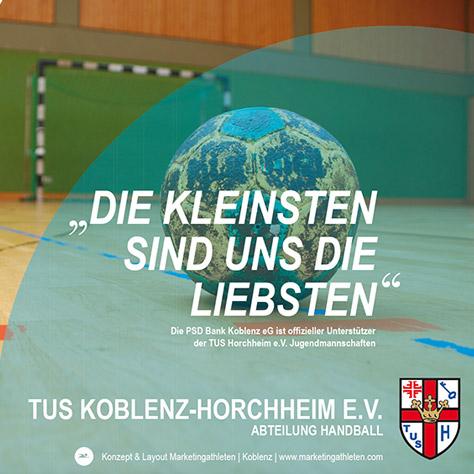 Banner TUS Horchheim gemeinsam mit der PSD-Bank Koblenz Portfolio